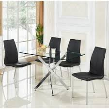 Glass Dining Room Furniture Glass Dining Table And 4 Chairs Uk Furniture In Fashion