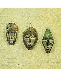bargains on wood ornaments three wise set of 3