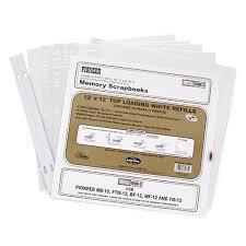 pioneer scrapbook refills 100 refill protectors 12x12 bulk 21 per package or 21 each
