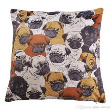 Sofa Cushion Cover Replacement by Home Sofa Throw Pillowcase Multi Color Polyester Dog Pattern