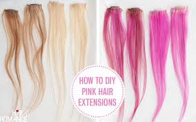 pink hair extensions how to diy pink highlights in your hair hair
