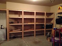 Storage Shelf Woodworking Plans by How To Build Sturdy Garage Shelves Home Improvement Stack