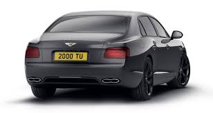 bentley flying spur adopts a sinister looking dark theme in the
