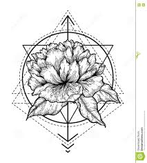 abstract floral tattoo stock vector image of line concept 74368365