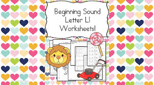 beginning sounds letter l worksheets free and fun
