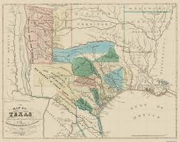 San Felipe Mexico Map by Old Map Texas Colorado Red River Land Grants 1821