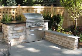 Backyard Brick Patio Design With 12 X 12 Pergola Grill Station by Outdoor Grill Station Garden U0026 Landscaping Ii Outdoor Living