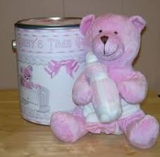 Teddy Bear Centerpieces by Fruit Platter For Teddy Bear Baby Shower With Pink And Purple Dip