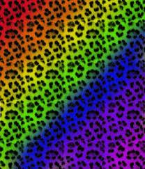 rainbow leopard print backgrounds