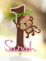 monkey cake topper monkey jungle cake topper girly mod monkey birthday cake