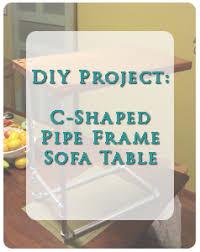c shaped sofa c shaped sofa table diy project everydayrefresh