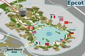 disney epcot map walt disney epcot wikitravel