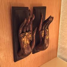vintage wood hand art carved buddha wall hanging sculpture home
