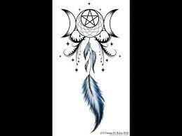 moon goddess dreamcatcher design
