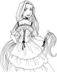 rapunzel tower coloring pages to print baby princess on download