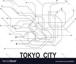 Tokyo Metro Map Tokyo Subway Map Royalty Free Vector Image Vectorstock