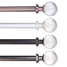 silver curtain rod ebay