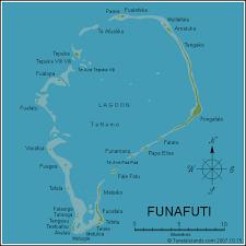 map of tuvalu funufuti atoll map funafuti tuvalu mappery
