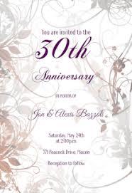 wedding anniversary invitations free anniversary invitation templates greetings island