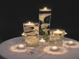 kitchen table centerpiece floating candles candle dining room