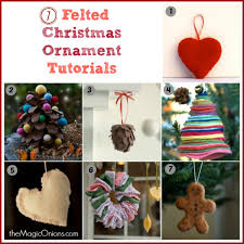 needle felted ornaments 7 tutorials the magic onions