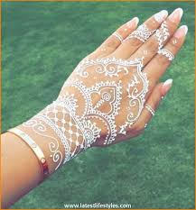 a french inspired mani for your wedding day white henna tattoo