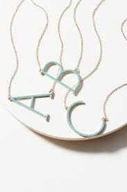 monogram necklace pave monogram necklace anthropologie