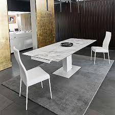 calligaris echo extending table echo extending pedestal table by calligaris at lumens com