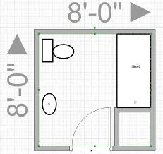Bathroom Design Layouts Can I Push Out My Wall To Get An 8x8 Bathroom Leave Me With Only