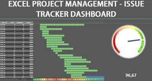 excel dashboard project management issue tracker youtube