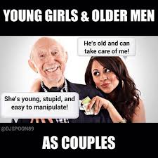 Young Girl Meme - 5 myths about relationships with much older men steemit