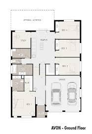 Floor Plans For Sloping Blocks by Avon Split Level Sloping Block Marksman Homes Illawarra