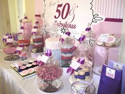 Candy Buffet For Parties by 50 U0026 Fabulous Birthday Candy Buffet With Purple Pink White Colour