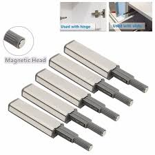 Kitchen Cabinet Magnetic Latches 5pcs Cabinet Door Drawer Push To Open System Damper Buffer Catch