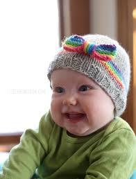 rainbow baby hat knitting pattern window