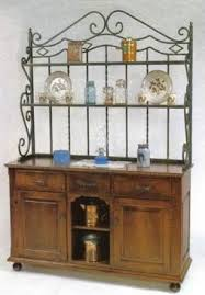 Bakers Racks With Drawers Amish Heirloom Buffet With Bakers Rack