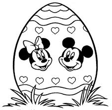 Minnie Mouse Easter Book Mickey Minnie Easter Free Coloring Page Disney Easter Holidays