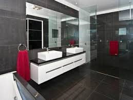 Modern Bathroom Design With Builtin Shelving Using Frameless - Glass bathroom designs