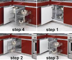 Kitchen Corner Cabinet Storage Revashelf Blind Corner Storage Organizer For Kitchen Blind Corner