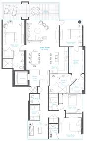 4 bedroom apartment floor plans penthouse 1 at vue sarasota bay features 4 bedrooms 4 5 baths