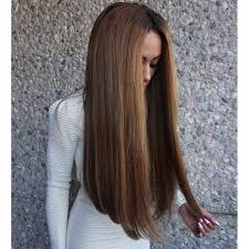 long hair that comes to a point point cutting