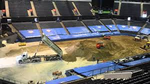 monster truck show tonight building a monster truck arena with 100 loads of dirt in 40