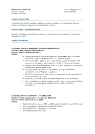 Educational Qualification In Resume Format Sample Resume Format For Experienced Engineers Gallery