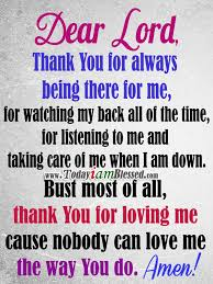prayer lord thank you for loving me cause nobody can