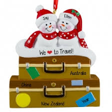 travel abroad ornaments gifts personalized ornaments for you