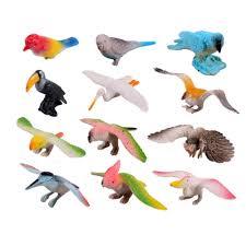 aliexpress com buy 12pcs different kinds birds toy set plastic
