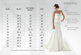 size chart for wedding dresses bridal size chart kirstie