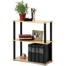 Bookshelves Overstock Open Sided Black Bookcase 3 Shelf Organizer Wood Bookshelf Display