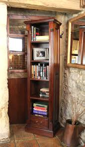 cherry wood corner bookcase bookcase gorgeous tall narrow bookcase for book organizer idea