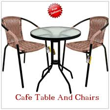 Wicker Bistro Table And Chairs Cafe Table And Chairs Wicker Rattan Bistro Set Garden Outdoor